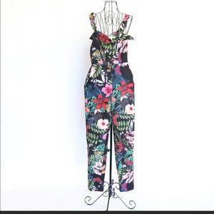 H&M Floral Print Jumpsuit